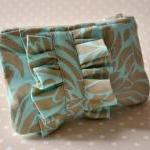 Coin purse Ruffle mini blue..